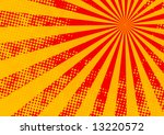 The hot halftone summer sun - vector, illustration - stock vector