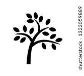 tree thin leaf | Shutterstock .eps vector #1322059889