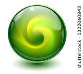 green glass sphere  3d marble... | Shutterstock .eps vector #1322060843