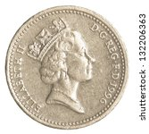 One British Pound Coin Isolate...