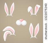 bunny body parts  elements....   Shutterstock .eps vector #1322075240