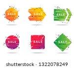 trendy geometric banners set... | Shutterstock .eps vector #1322078249