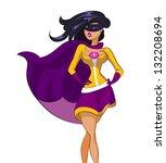 woman super hero. vector... | Shutterstock .eps vector #132208694