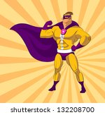 super hero. vector illustration ... | Shutterstock .eps vector #132208700
