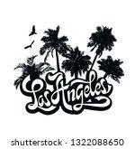 city los angeles  california....   Shutterstock . vector #1322088650