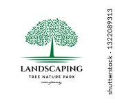 tree landscaping logo icon... | Shutterstock .eps vector #1322089313