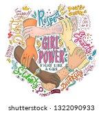 feminism concept. girl power... | Shutterstock . vector #1322090933