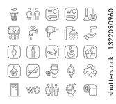 public toilet icon set. signs... | Shutterstock .eps vector #1322090960