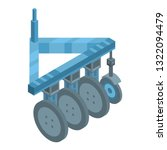wheels tractor machinery icon.... | Shutterstock .eps vector #1322094479
