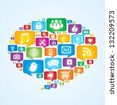 speech bubbles communication... | Shutterstock .eps vector #132209573