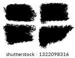 vector set of big hand drawn... | Shutterstock .eps vector #1322098316