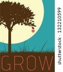 vector minimal design   grow | Shutterstock .eps vector #132210599
