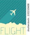 vector minimal design   flight | Shutterstock .eps vector #132210608