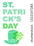 cute green st. patrick's day...   Shutterstock .eps vector #1322107283