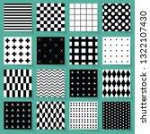 Black And White Geometrical...