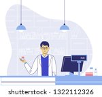 pharmacy concept with... | Shutterstock .eps vector #1322112326