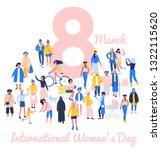 international womens day 8... | Shutterstock .eps vector #1322115620