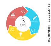 vector circle chart infographic ...   Shutterstock .eps vector #1322116466