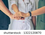 doctors and nurses in a medical ... | Shutterstock . vector #1322120870