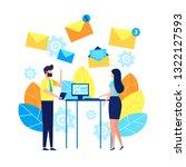 vector illustration  concept of ... | Shutterstock .eps vector #1322127593