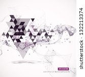 Abstract geometric background. Eps10 Vector illustration | Shutterstock vector #132213374