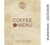 restaurant or cafe menu design. ...   Shutterstock .eps vector #132213638