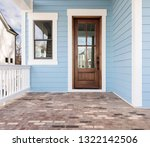front door  brown front door... | Shutterstock . vector #1322142506