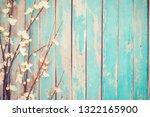 cherry blossom flowers on... | Shutterstock . vector #1322165900