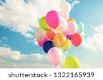 colorful festive balloons over... | Shutterstock . vector #1322165939