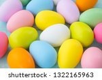 colorful easter eggs background.... | Shutterstock . vector #1322165963