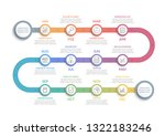 timeline infographics with 12... | Shutterstock .eps vector #1322183246