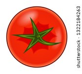 fresh red tomato with green... | Shutterstock .eps vector #1322184263