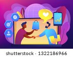 manager shakes hands with...   Shutterstock .eps vector #1322186966