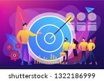big target  manager and... | Shutterstock .eps vector #1322186999