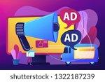 marketer with outdoor... | Shutterstock .eps vector #1322187239