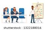 young speaker make presentation ... | Shutterstock .eps vector #1322188016