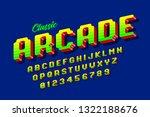 retro style arcade games font ... | Shutterstock .eps vector #1322188676