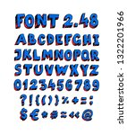 blue english font. vector.... | Shutterstock .eps vector #1322201966