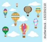 aerostat air balloon sky clouds ... | Shutterstock .eps vector #1322202110