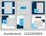 editable square abstract... | Shutterstock .eps vector #1322205833