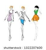 stylish fashion models. pretty... | Shutterstock .eps vector #1322207600