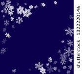 winter snowflakes border simple ... | Shutterstock .eps vector #1322220146