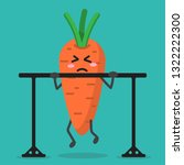 cartoon carrot health strong... | Shutterstock .eps vector #1322222300