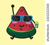 cartoon watermelon and summer... | Shutterstock .eps vector #1322222333