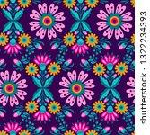 seamless flowers ethnic ... | Shutterstock .eps vector #1322234393