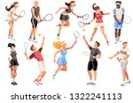 workout playing tennis. set ... | Shutterstock .eps vector #1322241113