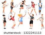 workout playing tennis. set ...   Shutterstock .eps vector #1322241113