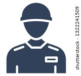 worker vector icon which can... | Shutterstock .eps vector #1322241509
