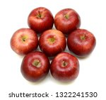 ripe apple fruits isolated on... | Shutterstock . vector #1322241530