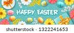 greeting design for easter... | Shutterstock .eps vector #1322241653